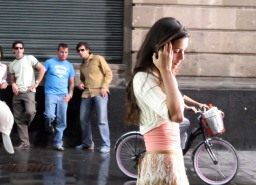 Image result for men staring woman walking by street