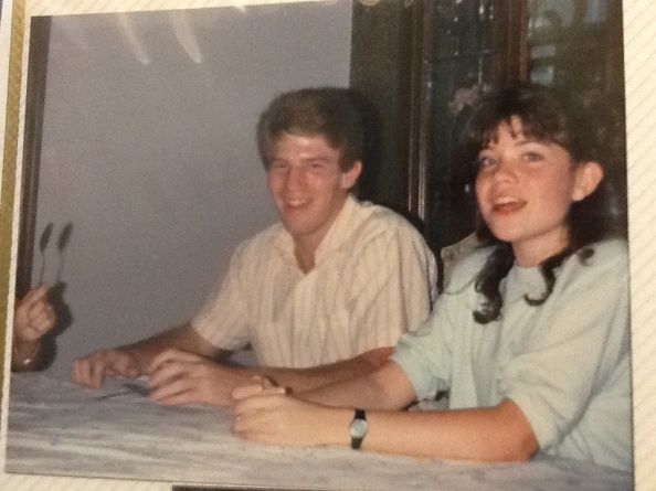 A few weeks after Greg and I met in 1988.  I was 15, he was 16