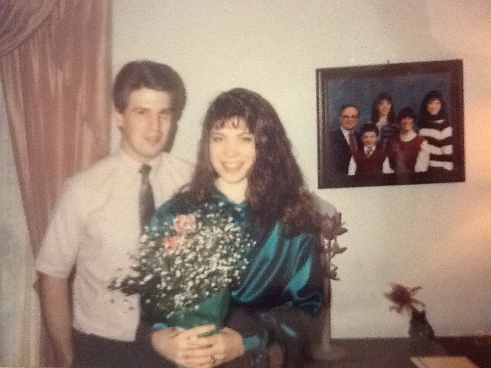 Greg and April -  when we were in high school - 1990