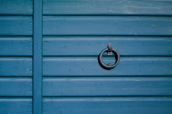 Garage door in blue