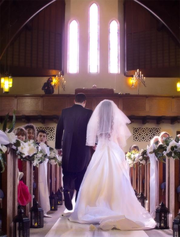 A reader's frugal, Christ-centered wedding